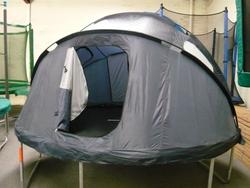 Trampoline Tents are a great place for the kids to hide and play ,Also for the Adults to relax in the evening.