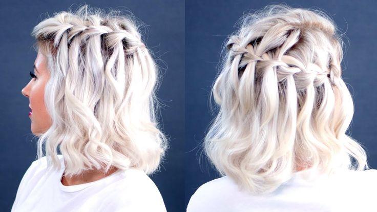 HOW TO: Waterfall Braid Short Hair Tutorial | Milabu – YouTube