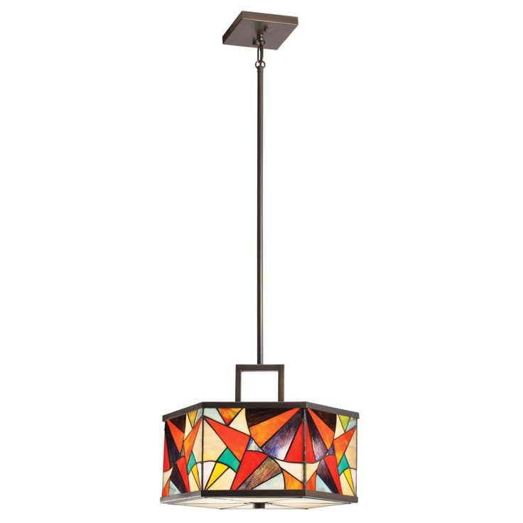 The Kichler Carnival Art Glass Pendant Brings Color And Fun To A Kitchen Or Dining Table