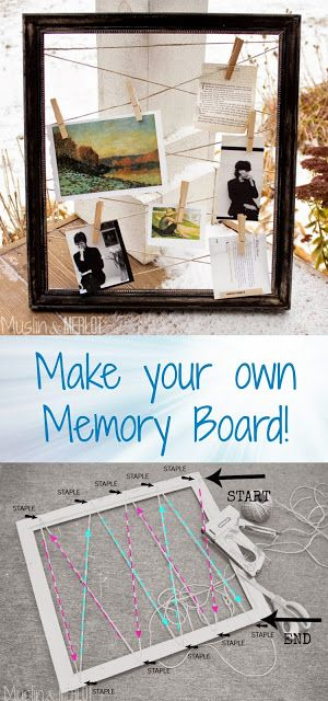 Make a Frame & Hemp Memory Board!