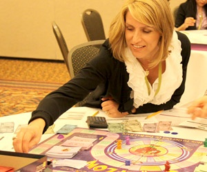 Playing the Cashflow game at a Cashflow Club gathering...: App