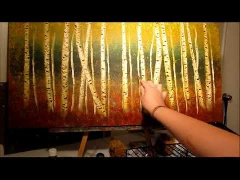 How to Paint Aspen Trees - step by step - YouTube