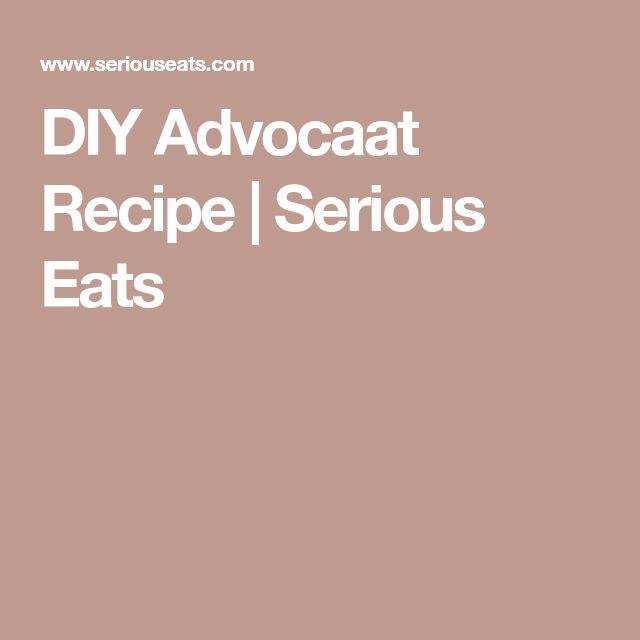 DIY Advocaat Recipe | Serious Eats
