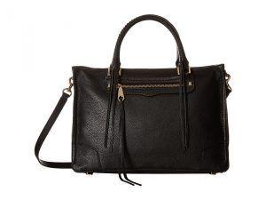 Rebecca Minkoff Regan Satchel Tote (Black) Tote Handbags