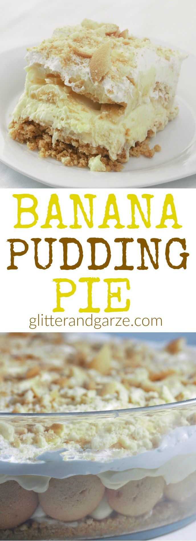 This no bake banana pudding pie is easy to make and is a great twist on a classic. This recipe is big enough to feed a crowd for your next get together.