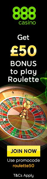 """Get £50 Bonus to play Roulette. Up to £100 Welcome Bonus. Promocode: roulette50. See """"888 Casino"""" at www.Casino-Bingo-UK.co.uk United Kingdom's premier listing of online bingo, casino, lottery, and scratch cards. All the favorites and hard to find. #UK #UnitedKingdom #bingo #casino #lottery #poker #roulette #scratchcards #slots #gambling #payout #chance #over18 #welcomepackage #welcomebonus #betting #luck #scratch #cards #scratchoffs #scratchgames"""