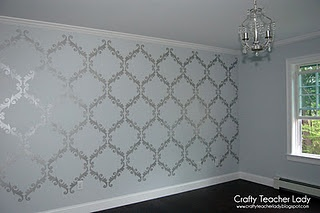 Metallic Paint Stenciling And Martha Stewart On Pinterest