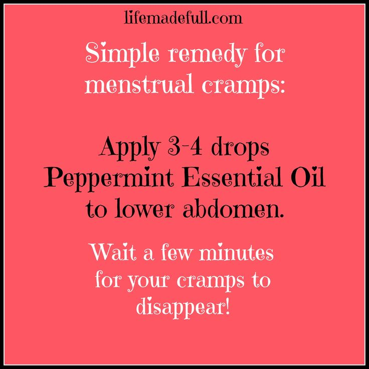 Essential oil for menstrual cramps