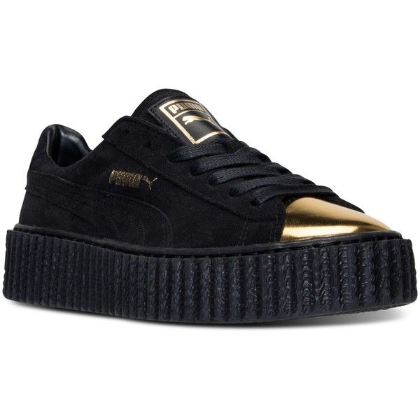 Puma Women's Platform Casual Sneakers from Finish Line (135 SGD) ❤ liked on Polyvore featuring shoes, sneakers, platform sneakers, puma sneakers, puma footwear, platform shoes and platform trainers