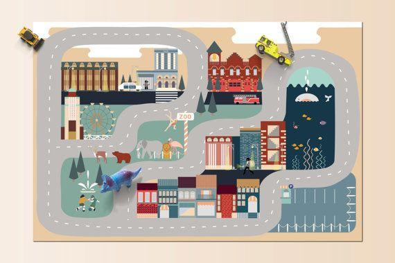 Heidi Valkola//Car Playmate City//Etsy