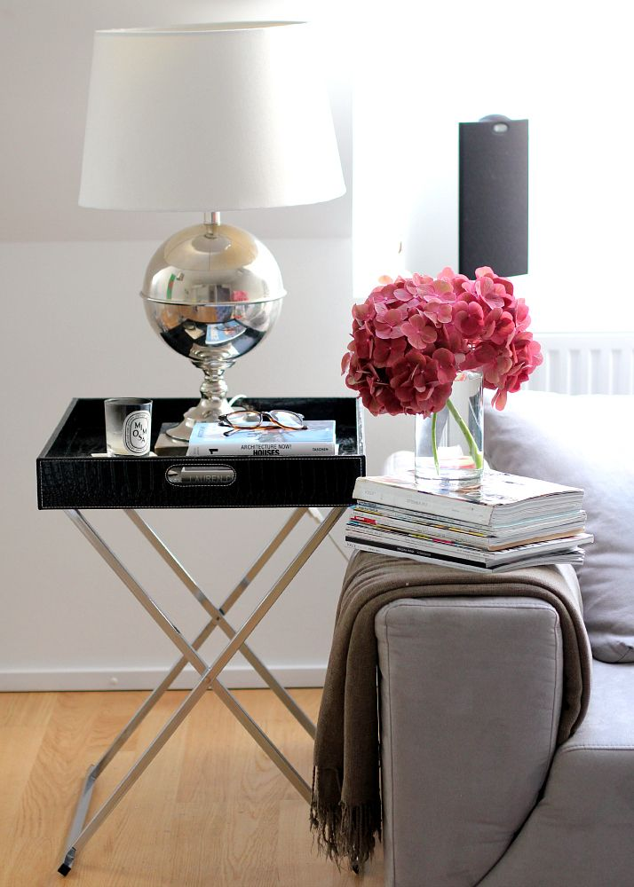 Tray End Table Styling. Side Table in Living Room | The Daily Dose.