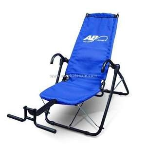Ab Lounger - my favorite piece of exercise equipment.  Ideal for the person with bad back.  Targets the area you want without hurting the back trying to do sit-ups.  Fold away or leave out.  It makes exercise fun.  Watch tv or listen to music as you comfortably crunch away those pounds.