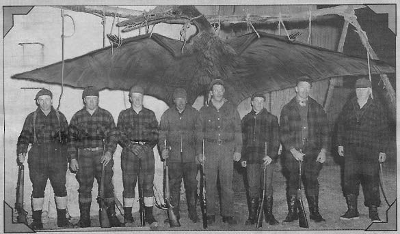 Some sort of giant flying reptile with a group of hunters. Origin of this photo unknown.