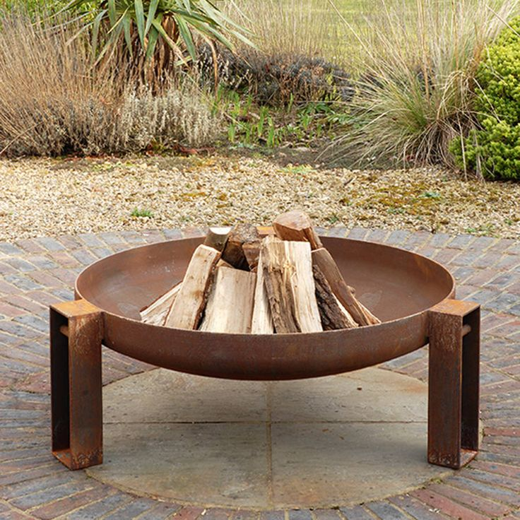 vulcan welded steel fire pit by magma firepits | notonthehighstreet.com