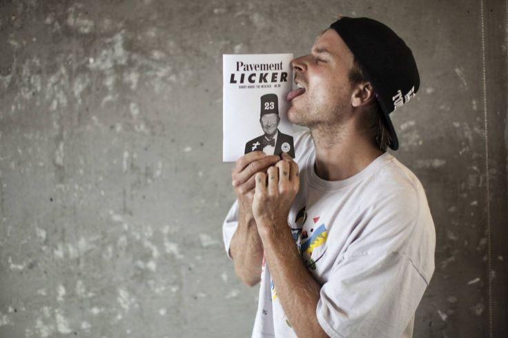 Chad Muska Licks Pavement Licker