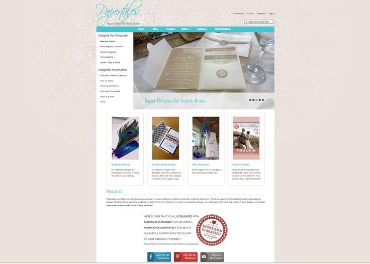 E-Commerce design for Papertales www.papertales.com.au