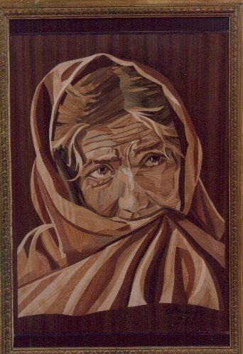 Картина выполнена в технике маркетри - мозаики из шпона. В 20-е годы в Ленинграде на Смоленском кладбище сталинскими выродками-чекистами были произведены…
