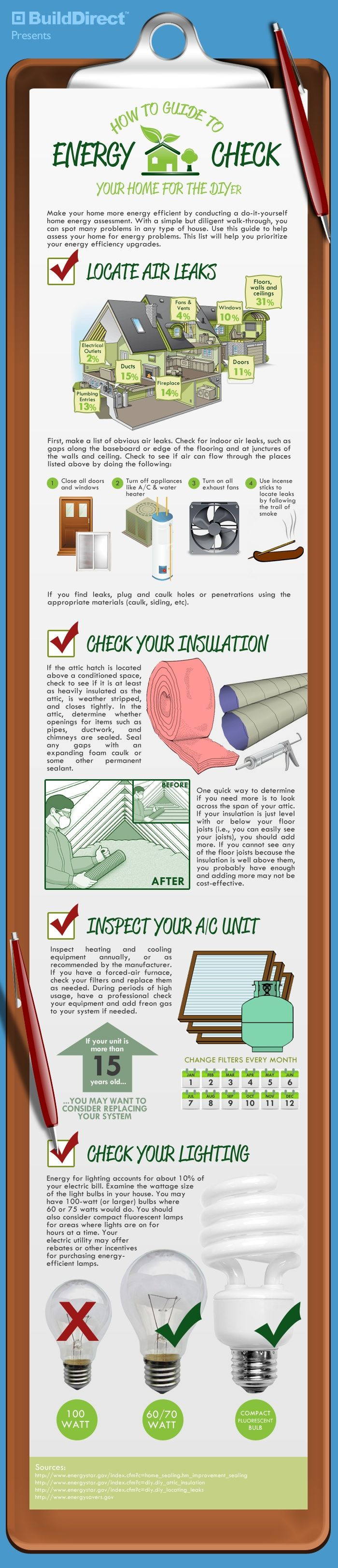 Great Tips on #energysaving, from loft #insulation through to ideas on checkin for air leaks