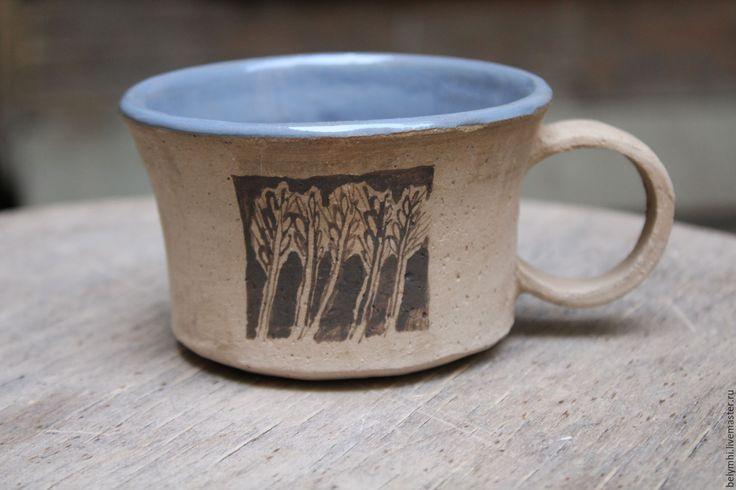 Купить чашка Колосья в ночи - серый, колосья, чашка для чая, чашка для кофе, керамическая посуда