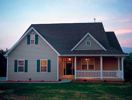 Small Country Homes with Porch | Country House Plan 4124DB - Cute Country Design by SearchHomePlans.com