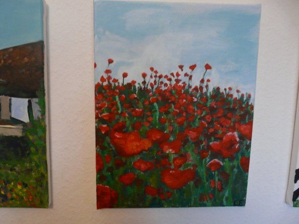 """Poppies"" by Linnea Englander, 2008, acrylic on canvas"
