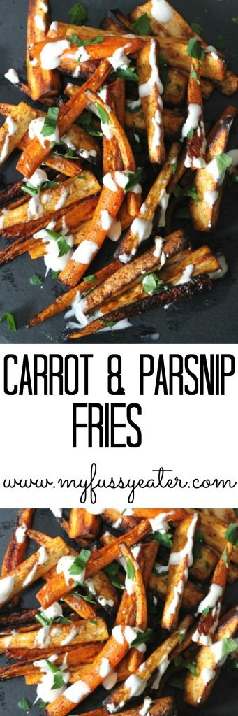 Carrot and Parsnip Fries. A delicious healthy baked alternative to french fries