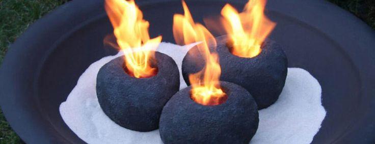 Fire Rocks - Set of 3