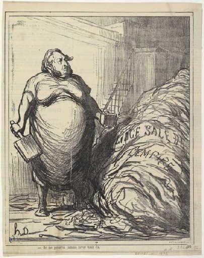 Rouher.  Nunca puedo lavar todo esto (la ropa sucia del Imperio) 1872 - Honore Daumier