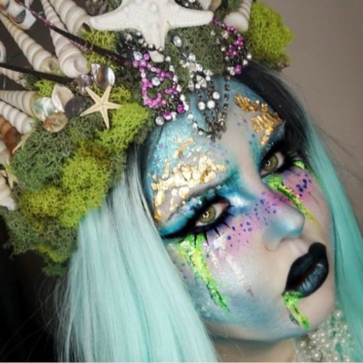 "882 Likes, 9 Comments - MAKEUP FOR MERMAIDS (@loveluxebeauty) on Instagram: ""Total Toxic Mermaid!! @pixieplastic wearing our highlighters! Check out her pic for deets! ⚓️…"""