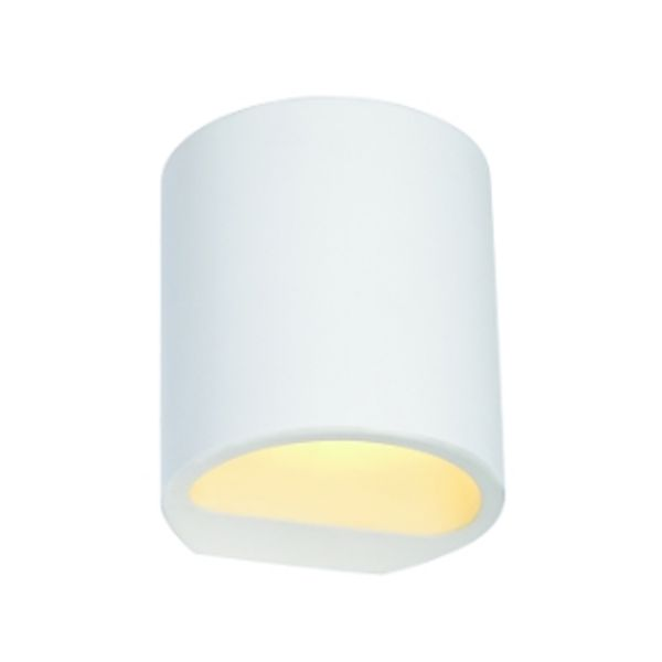 NL-148016 PLASTRA PAINTABLE WALL LIGHT GL 104 ROUND WHITE PLASTER