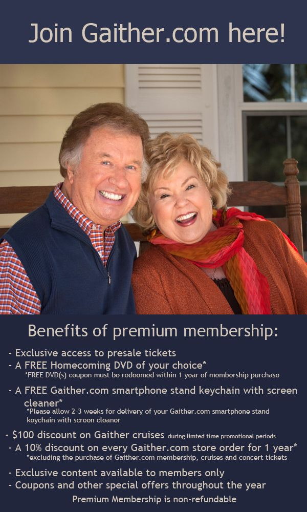 Premium Membership   Gaither Music