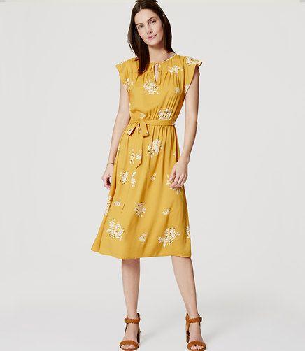 Ann Taylor Loft, Hydrangea Flutter Dress $89.50