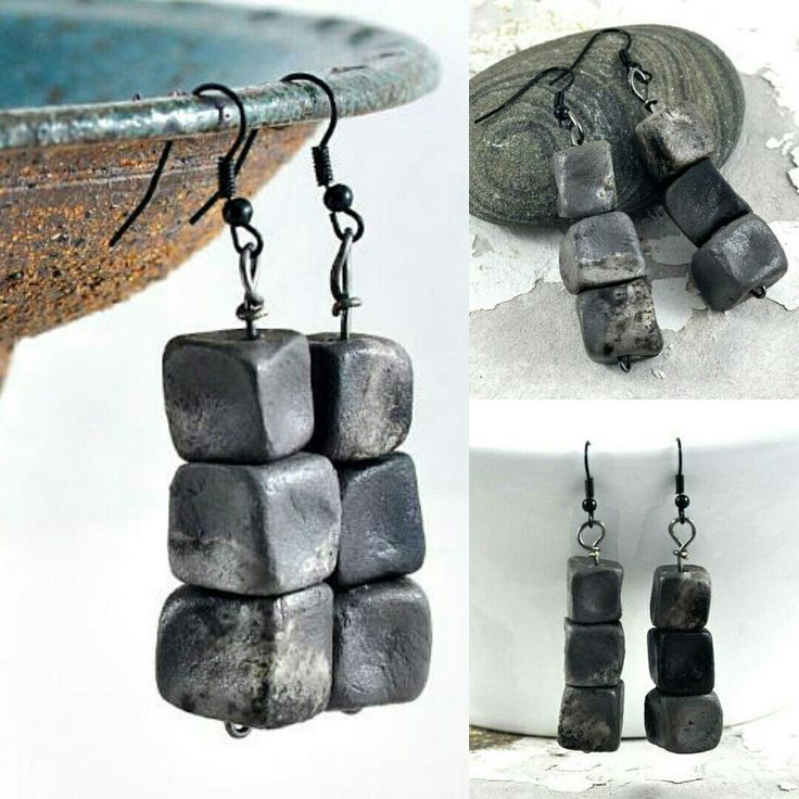 NEW in my Etsy shop - these dramatic cube earrings make a jewellery fashion statement while being lightweight and comfortable to wear AND the jewellery holder will be listed in my shop soon, so stay tuned