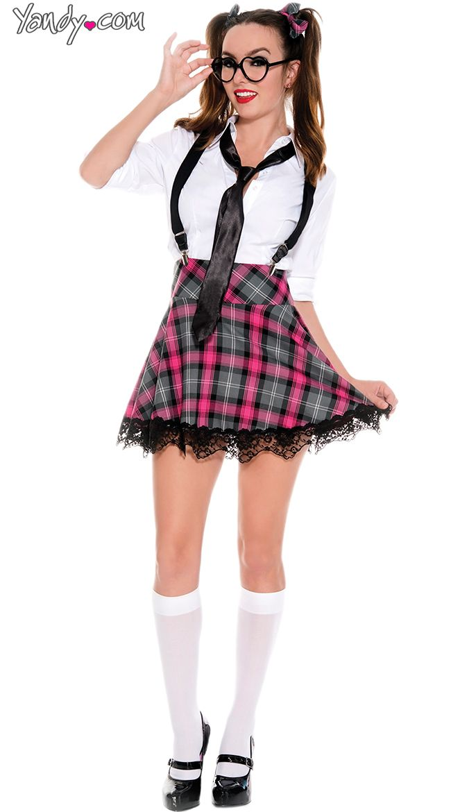 Heart and Net Thigh Highs | Plaid, Teaching and School girl