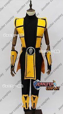 Mortal Kombat 3 Scorpion Cosplay Costume