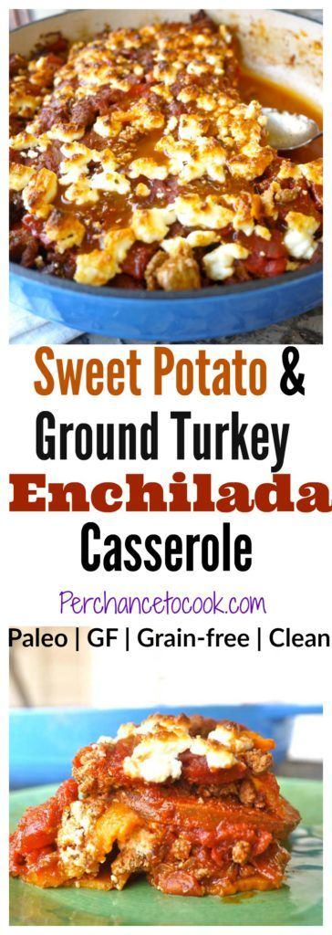Sweet Potato and Ground Turkey Enchilada Casserole (paleo, GF) | Perchance to Cook, www.perchancetocook.com