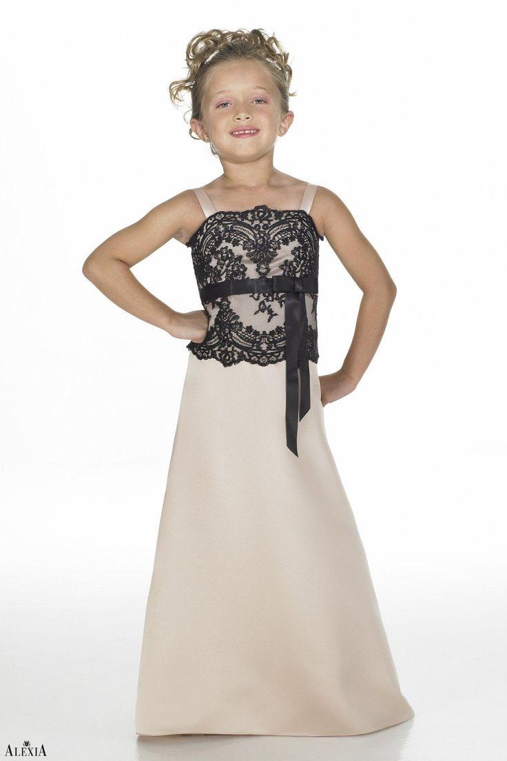 35 best clothes for kids images on pinterest junior dresses satin a line straps empire floor length junior bridesmaid dress with lace sashribbon ombrellifo Choice Image