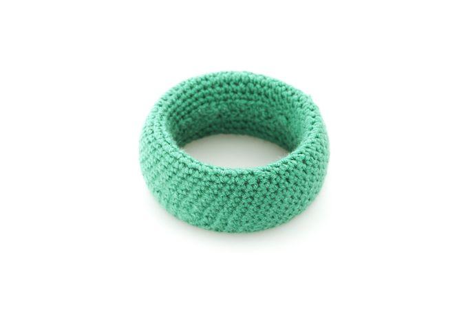 Knit Bangle Sea Green by Blossom Handmade
