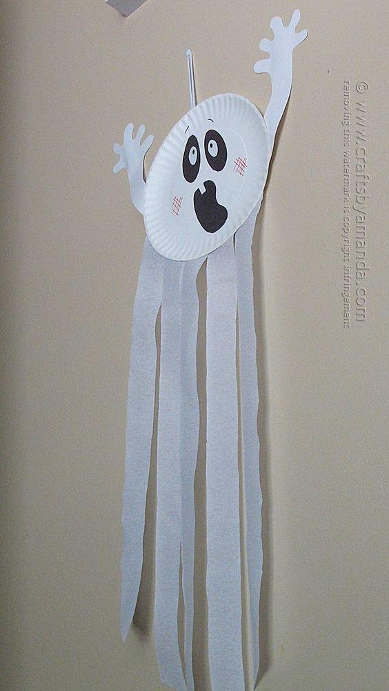 ghost kid crafts – halloween kid craft – fall kid …