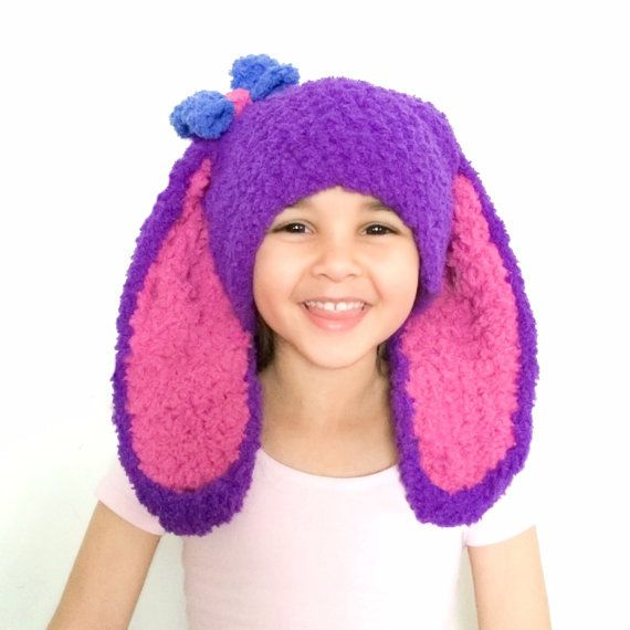 2T to 4T Purple and Pink Bunny Hat with Blue Bow toddler easter beanie. Handmade with love by Babamoon :)   *Can be made in sizes Preemie to Adult and in other colours on request!   #handmade #babyhat #baby #hat #babies #rabbit #easter #bunny #bunnyrabbit #bunnyhat #bunnyears #blue #purple  #pink #bow #bows #bowhat #babyshower #babyshowergift #easterbunny #etsy #babyfashion #childrensfashion #kidsfashion #babygifts #gifts #etsygifts #photoprop #photographyprop #newbornphotography…