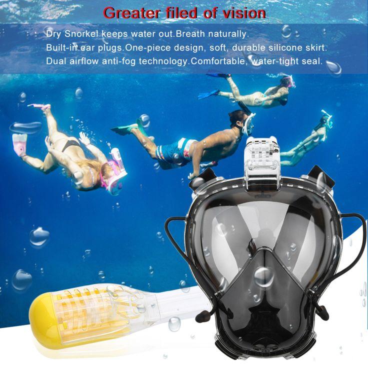 new Diving Mask Scuba Mask Underwater Anti Fog Full Face Snorkeling Mask  Children Kid Swimming Snorkel Diving Equipment