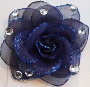 Glitz Glitter Icy Rose Navy Weddings Blue Clip