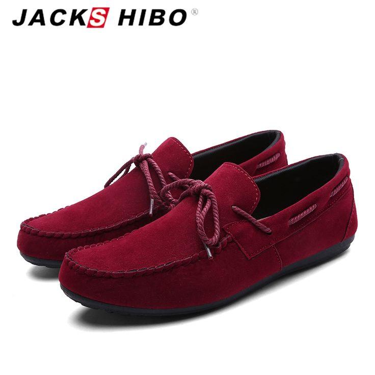 $38.98 (Buy here: https://alitems.com/g/1e8d114494ebda23ff8b16525dc3e8/?i=5&ulp=https%3A%2F%2Fwww.aliexpress.com%2Fitem%2FJACKSHIBO-2016-New-Arrival-hot-sale-Men-loafer-shoes-retro-men-casual-slip-on-suede-shoes%2F32631841059.html ) JACKSHIBO 2016 summer lightweight Men loafer shoes sales,retro man casual slipon suede shoes,red high quality flats shoes for just $38.98