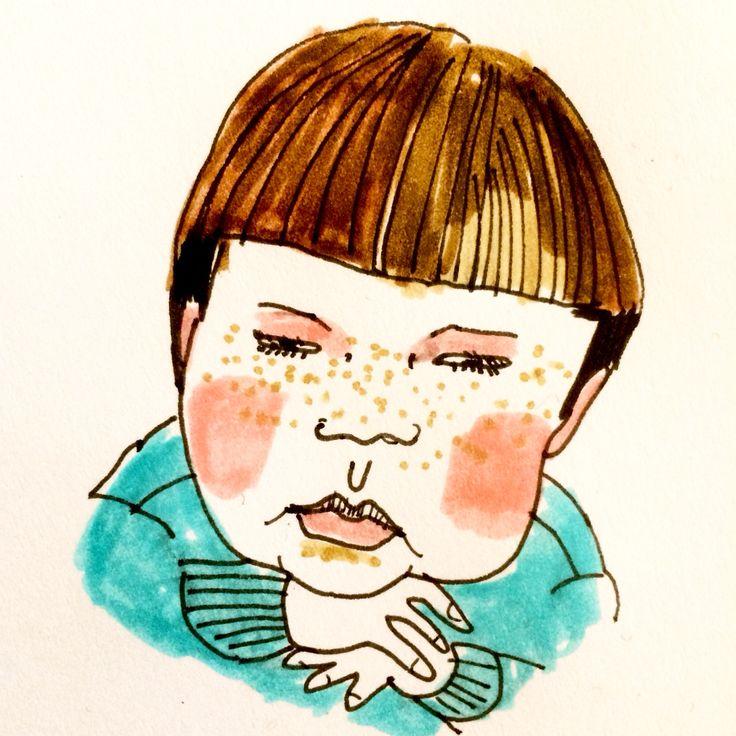 Portrait by Marie Åhfeldt - Mås Illustra #character