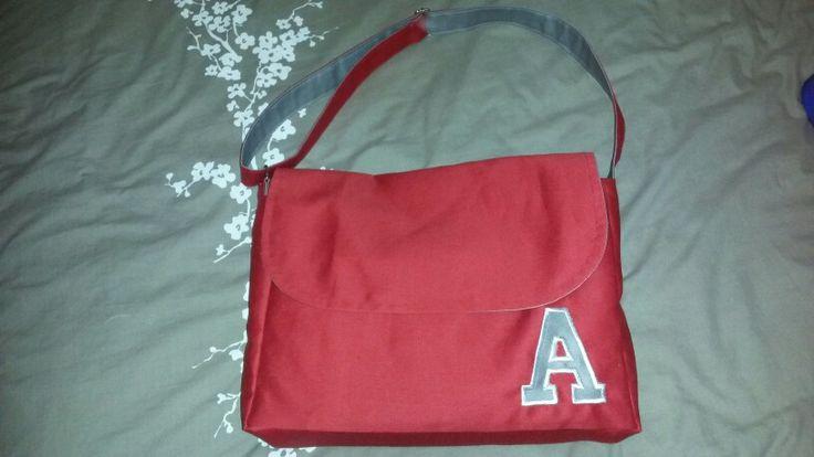 Reversable messenger bag first try