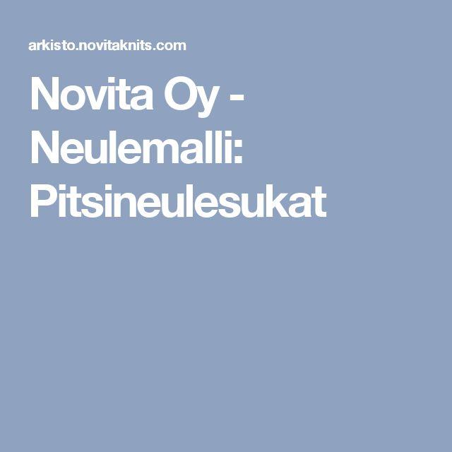 Novita Oy - Neulemalli: Pitsineulesukat