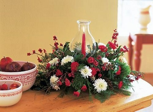 tips decoracin navidad centros de mesa con flores