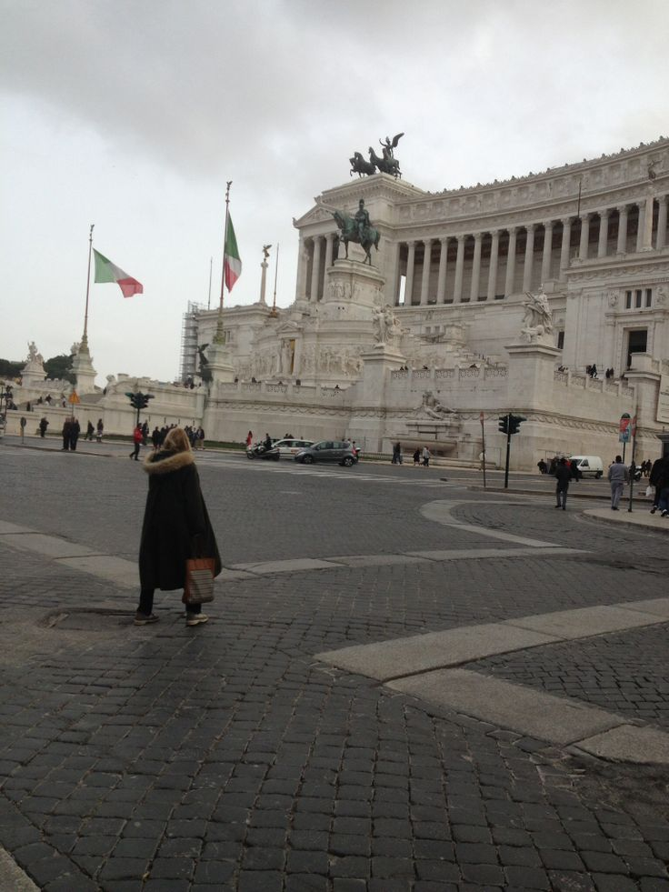 #piazza Venezia on a cloudy day