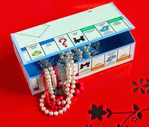 Monopólio transforma-se num guarda joias :D Reutilizar Jogos
