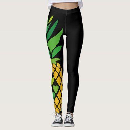Black Pineapple Leggins Leggings  $64.75  by CreativeSnug  - cyo customize personalize diy idea